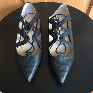 Topshop Black Leather Flats